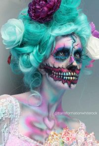 TransformationBeautyWhiteRockHalloweenMakeup