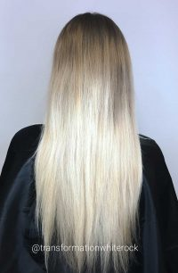 Ombre Hair White Rock