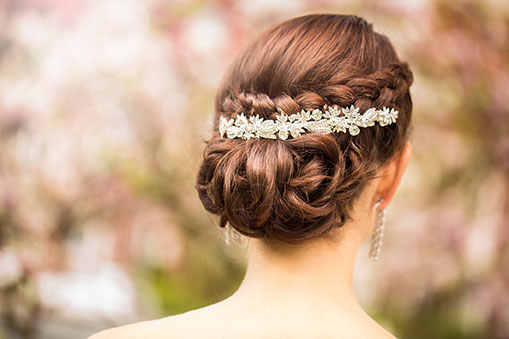 Bridal Hair White Rock